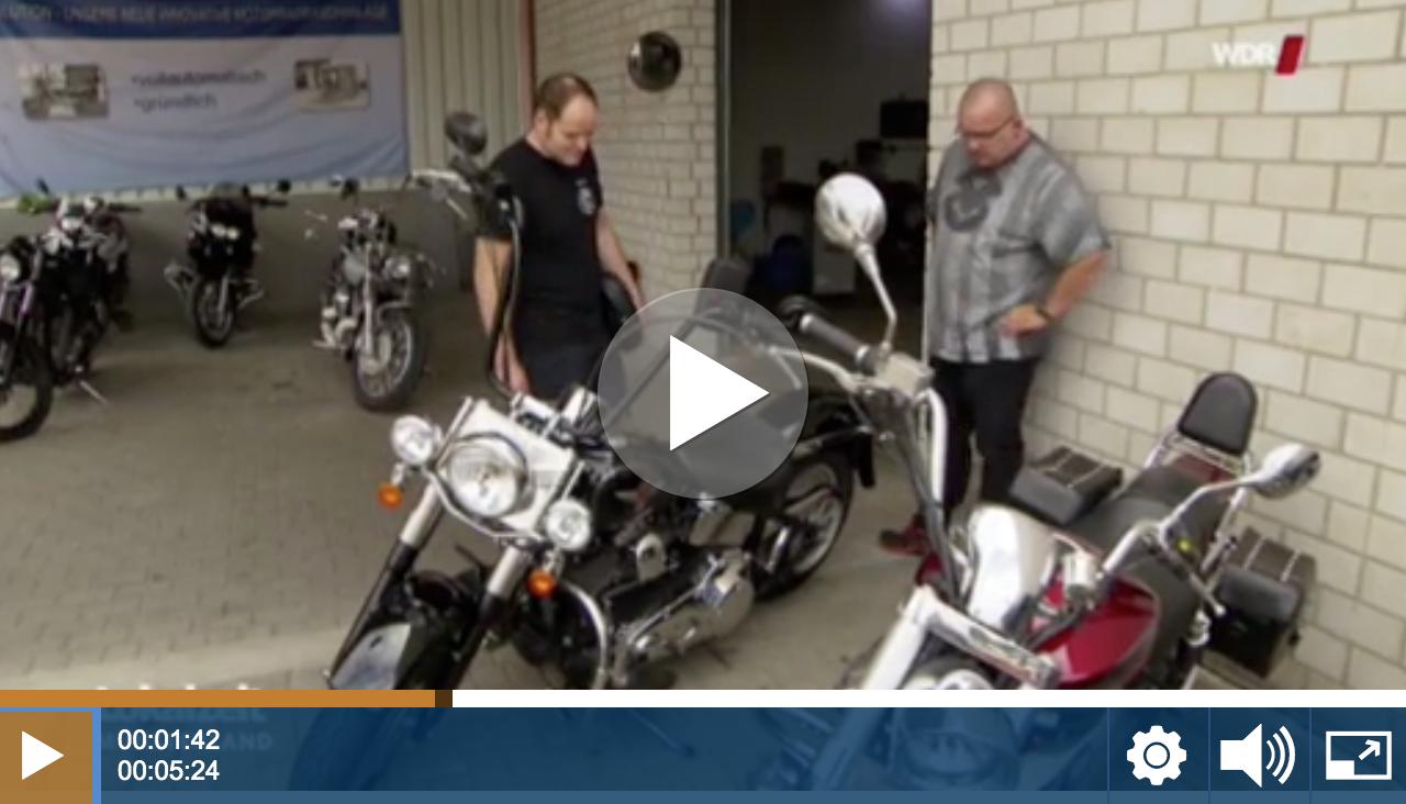 WDR Lokalzeit Vorschaubild zum Bericht über Harley-Davidson Import